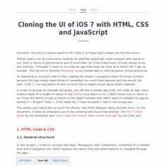 Cloning the UI of iOS 7 with HTML, CSS and JavaScript