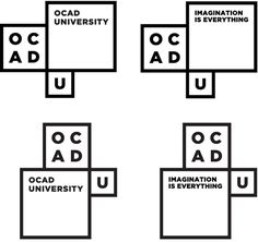 OCAD University's new Identity, a collaboration between OCAD and Bruce Mau Design. I was very nervous to see this branding for my school but I am happy with the outcome. Brand Identity Design, Corporate Design, Corporate Identity, Web Design, Icon Design, Graphic Design, Sistema Visual, Dynamic Logo, Lab Logo