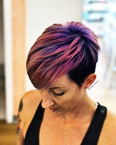 Purple, pink, and rose gold. Had so much fun doing this for her!! ❤