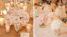 Des couleurs poudrées, des petits cœurs ici et là, des roses suspendues ou installées en centre de table, des gourmandises d'amoureux, les idées so...