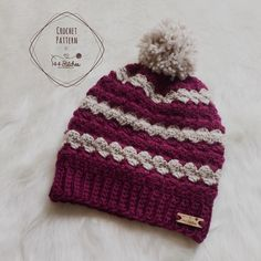 Twin Rivers Beanie Crochet Pattern http://www.144stitches.com/crochet-hat-patterns/twin-rivers-crochet-textured-beanie-pattern