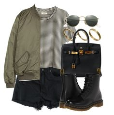"""Style #11403"" by vany-alvarado ❤ liked on Polyvore featuring Madewell, Made, Hermès, Dr. Martens and Ray-Ban"