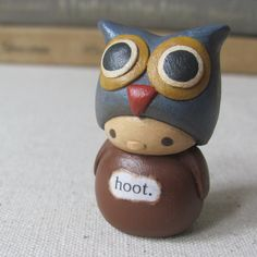 Wee Owl. Hoot by humbleBea on Etsy https://www.etsy.com/listing/54851180/wee-owl-hoot-reserved