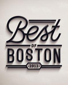 Typography / Best of Boston 2012, by Jordan Metcalf