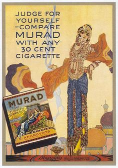 Murad Cigarettes, 1919 by Gatochy, via Flickr