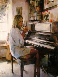 Music-playing piano