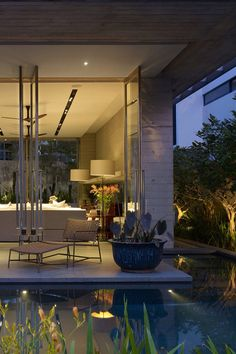 elegant indoor outdoor transition