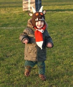 Gruffalo hat with free (amateur!) instructions as it is the first time I've written a pattern out!!