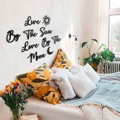 Metal Wall Letters, Metal Wall Art Decor, Wall Decor Design, Metal Walls, Bedroom Wall Decor Above Bed, Bedroom Decor, Bedroom Ideas, Metal Design, Unique Home Accessories