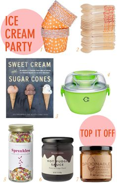 ice cream party essentials