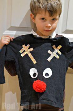 Easy Christmas Sweater DIY for Kids