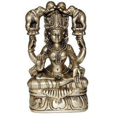 Amazon.com: Lakshmi Sculptures Brass Figurines Hindu Godess To Help Create Wealth: Home & Kitchen