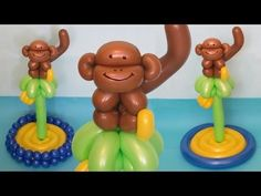 обезьяна на пальме на острове из шаров / monkey on a palm tree on the island of balloons - YouTube