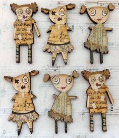 Handmade Dolls Wood Cuts