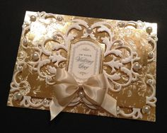 Fancy Wedding Card with Pearlescent and Gold Foil Anna Griffin Papers