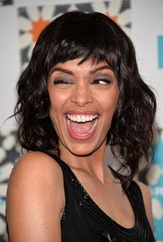 Actress Tamara Taylor arrives at the 2014 Television Critics Association Summer Press Tour - FOX All-Star Party at Soho House on July 2014 in West Hollywood, California. Shoulder Length Black Hair, Tamara Taylor, Star Party, Celebs, Celebrities, Beautiful Smile, Hair Today, New Hair, Pretty Woman