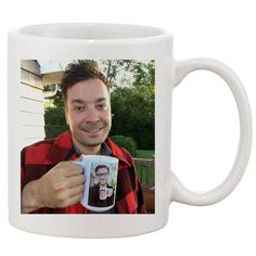 Jimmy Fallon & Justin Timberlake Coffee White 11 oz. Printing Ceramic Coffee Mug