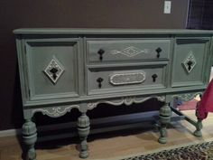 Sideboard refinished in duck egg and pure white.   www.facebook.com/OlCountryChic