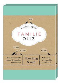 bol.com | Vertel eens - Familie Quiz | 9789000359813 | Elma van Vliet | Boeken Christmas Diy, Party, Gifts, Escape Room, Lunches, Convenience Store, Food, I Like You, Quizes