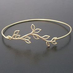 Olive Branch Bracelet, Gift for Bridesmaid Bracelet, Gold Plated Vine, Bridesmaid Gift Idea From Bride, Grecian Jewelry Olive Branch Jewelry Gold Bangle Bracelet, Gold Bangles, Jewelry Bracelets, Jewlery, Pandora Jewelry, Tattoo Bracelet, Stackable Bracelets, Bohemian Bracelets, Diamond Bangle