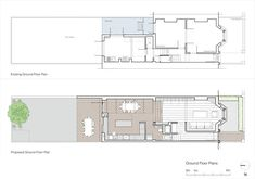 Remodeling done by Neil Dusheiko Architects in Stoke Newington, London Mini Clubman, House Extension Plans, House Extension Design, House Design, Layouts Casa, House Layouts, Revit Architecture, Interior Architecture, Interior Design
