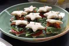 Star Shaped BLT Sandwiches