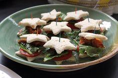 Star Shaped BLT Sandwiches