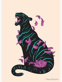 Art Tigre, Art Inspo, Animal Drawings, Art Drawings, Art Du Croquis, Tiger Poster, Poster Poster, Pop Art, Tiger Art
