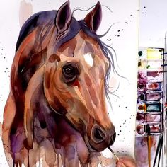 It is only by drawing often drawing everything drawing incessantly that one fine day you discover to your surprise that you have rendered someth Watercolor Horse, Watercolor Animals, Watercolor Paintings, Acrylic Painting Animals, Giraffe Painting, Watercolor Tattoos, Horse Drawings, Animal Drawings, Art Drawings