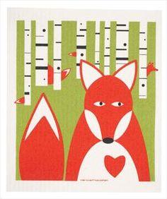 Swedish Dishcloth - Fox