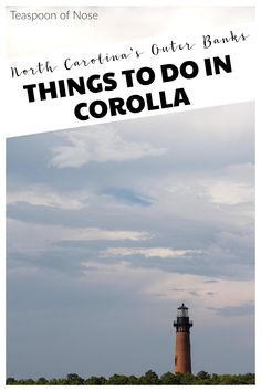Corolla is a cute beach town in North Carolina's Outer Banks, and is totally worth a visit! There are tons of things to do in Corolla Corolla Outer Banks, Outer Banks Nc, Corolla North Carolina, Outer Banks North Carolina, South Carolina, Between The Oceans, Things That Bounce, Things To Do, Beach Tops