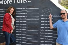 Green Family Reunion 2013 - Before I Die Wall