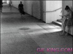 Girl kicks robber