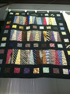 Necktie Quilt | Necktie quilt, Tie quilt and Tie crafts : silk tie quilts patterns - Adamdwight.com