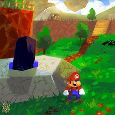 All-time favorite - Super Mario 64 by CamilleDionBolduc.deviantart.com on @DeviantArt