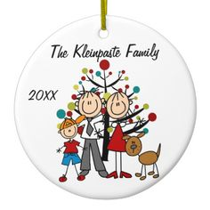 Shop Custom Family Parents, Boy, Dog Holiday Ornament created by christmasshop. Penguin Ornaments, Snowman Ornaments, Holiday Ornaments, Holiday Decor, Family Holiday, First Christmas Together Ornament, Babies First Christmas, Christmas Holidays, Christmas Tree
