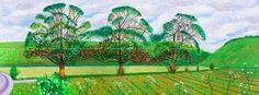 Image detail for -David Hockney Three Trees Near Thixendale Spring 2008 David Hockney Landscapes, David Hockney Art, David Hockney Paintings, Anselm Kiefer, Robert Rauschenberg, Gerhard Richter, Edward Hopper, Lucian Freud, Madonna