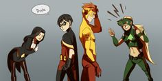 images of young justice characters - Google Search