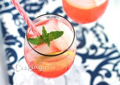Strawberry, Ginger, and Champagne Spritzers - The Cooking Bride