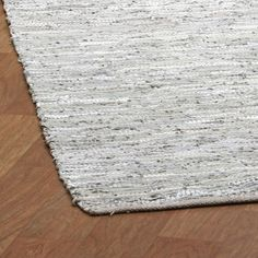 St. Croix Matador Leather Chindi Grey Area Rug & Reviews | Wayfair