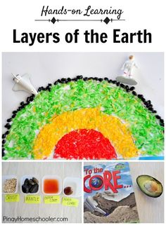 Layers of the Earth for Kids Jamie Reimer Earth Science Activities, Earth And Space Science, Kids Learning Activities, Preschool Science, Elementary Science, Science Experiments Kids, Science Lessons, Science For Kids, Science Projects