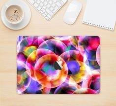 """The Neon Glowing Vibrant Cells Skin Kit for the 12"""" Apple MacBook from DesignSkinz"""