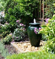 Pottery Fountain, Urn Fountain Eye of the Day Carpinteria, CA