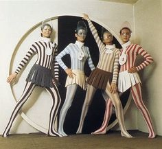 Mod Space Age Futuristic Fashion by Pierre Cardin late 1960's and early 1970's