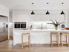 30+ Best Minimalist Kitchen Design Ideas You Need To Copy   If you have a small house or an apartment and you are wondering whether there would not be enough space for your kitchen, well here is the perfect sol...