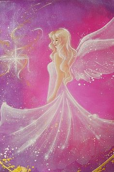 """Limited angel art photo """"trust"""" , modern angel painting, artwork, perfect for frame Fairy Pictures, Angel Pictures, Fantasy Kunst, Fantasy Art, Angel Wallpaper, Angel Guidance, Unicorns And Mermaids, Mystique, Guardian Angels"""