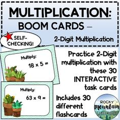 This digital product includes:Instructions for teachers on to set up a Boom account & assign decks to students30 self-checking cards which will be added to your library on www.boomlearning.com when the link is appliedWHAT ARE BOOM CARDS?Boom cards are digital task cards that you play on the Boom... Browser Chrome, Data Tracking, Multiplication, Task Cards, Decks, Self, Teacher, Play, Digital