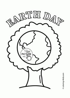 a kinds drawing about earth day coloring page with beauty tree earth happy day coloring page for kids imggif