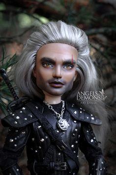 Monster High Boys, Custom Monster High Dolls, Monster Dolls, Monster High Repaint, Custom Dolls, Dolly Dress Up, The Witcher Geralt, Jackson, Catty Noir