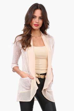 Cute, Chiffon Edged Cardigan